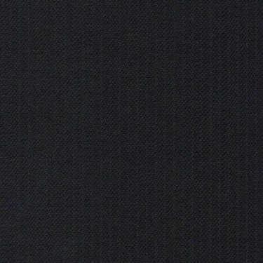 Tissu Holland and Sherry pour costume sur-mesure 100% laine noir à rayures étroites