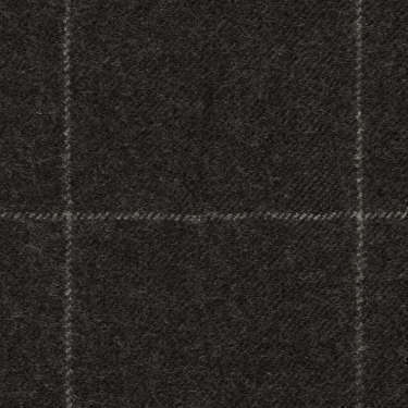 Tissu Holland and Sherry pour costume sur-mesure flanelle gris charbon à carreaux fenêtres craie