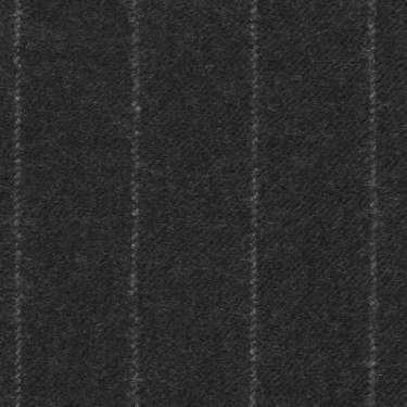 Tissu Holland and Sherry pour costume sur-mesure flanelle gris charbon à fines rayures craie