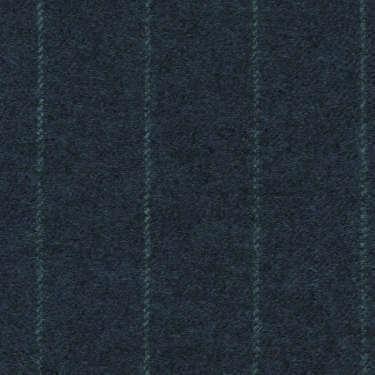 Tissu Holland and Sherry pour costume sur-mesure flanelle bleu classique à rayures craie