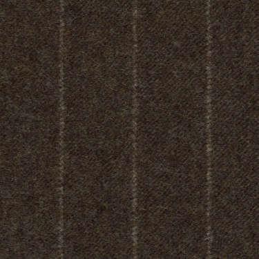 Tissu Holland and Sherry pour costume sur-mesure flanelle marron classique à rayures craie