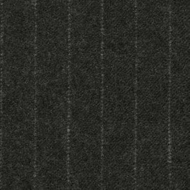 Tissu Holland and Sherry pour costume sur-mesure flanelle anthracite à rayures étroites craie