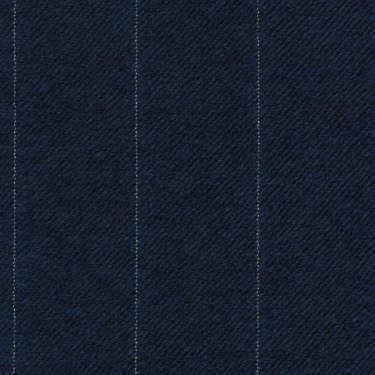 Tissu Holland and Sherry pour costume sur-mesure flanelle bleu marine à rayures