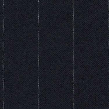 Tissu Holland and Sherry pour costume sur-mesure flanelle bleu marine foncé à rayures