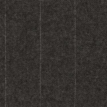 Tissu Holland and Sherry pour costume sur-mesure flanelle gris charbon à rayures