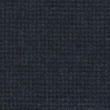 Tissu Holland and Sherry pour costume sur-mesure flanelle pied de poule bleu marine profond
