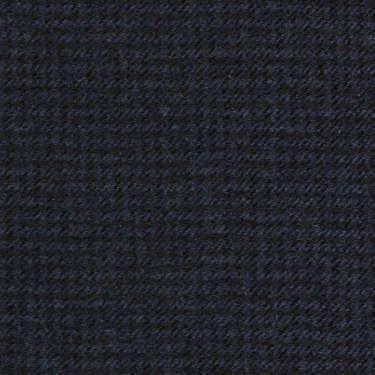 Tissu Holland and Sherry pour costume sur-mesure flanelle pied de poule bleu marine