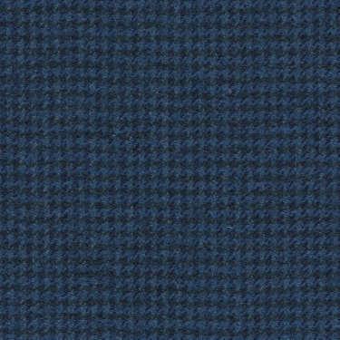 Tissu Holland and Sherry pour costume sur-mesure flanelle pied de poule bleu France