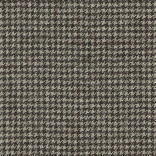 Tissu Holland and Sherry pour costume sur-mesure flanelle pied de poule gris clair