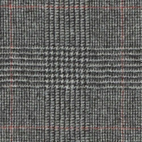 Tissu Holland and Sherry pour costume sur-mesure flanelle Prince de Galles noir et blanc, rouge