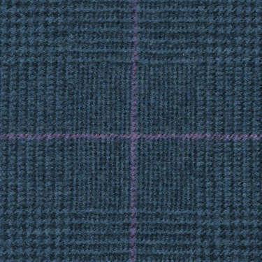 Tissu Holland and Sherry pour costume sur-mesure flanelle Prince de Galles bleu et rose