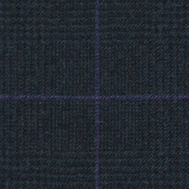 Tissu Holland and Sherry pour costume sur-mesure flanelle Prince de Galles bleu marine et aubergine