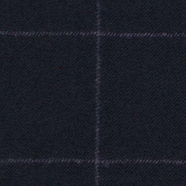 Tissu Holland and Sherry pour costume sur-mesure flanelle bleu marine à carreaux fenêtres craie violette