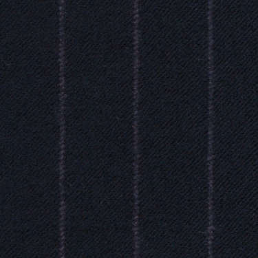 Tissu Holland and Sherry pour costume sur-mesure flanelle bleu marine à rayures craie violette