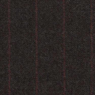 Tissu Holland and Sherry pour costume sur-mesure flanelle gris charbon à rayures craie rouge