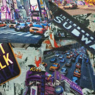 Tissu pour doublure veste sur-mesure motif ville de New York