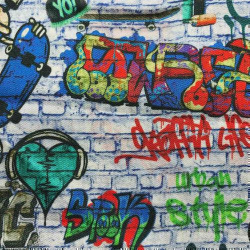 Tissu pour doublure veste sur-mesure motif graffiti