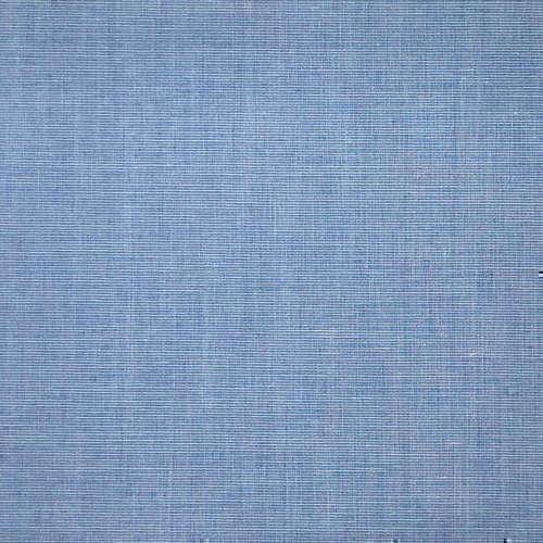 Tissu pour chemise sur-mesure fil à fil uni bleu