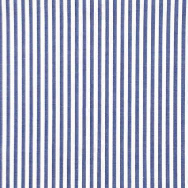 Tissu pour chemise sur-mesure popeline rayé blanc et bleu