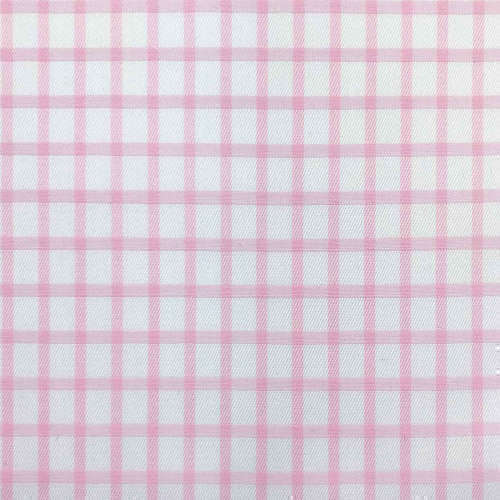 Tissu pour chemise sur-mesure twill blanc carreaux rose