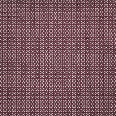 Tissu pour chemise sur-mesure popeline rouge bordeaux motif gris