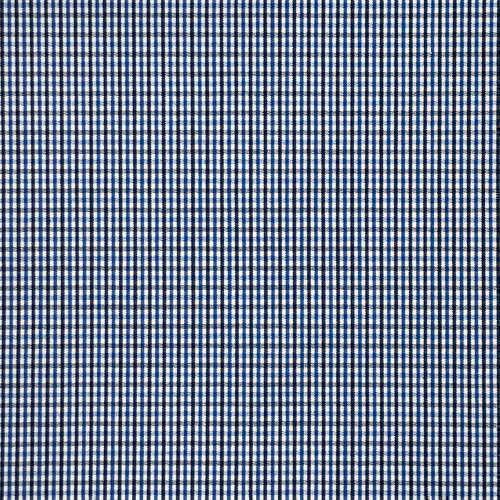 Tissu pour chemise sur-mesure popeline carreaux bleu et noir
