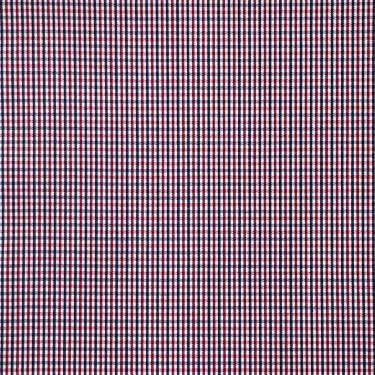 Tissu pour chemise sur-mesure popeline carreaux bleu marine et rouge