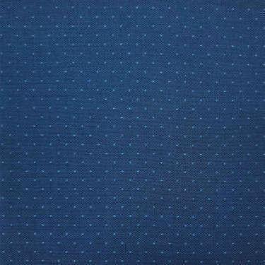 Tissu pour chemise sur-mesure popeline bleu foncé