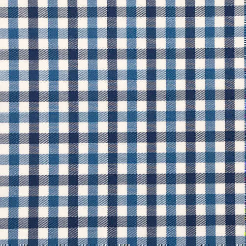 Tissu pour chemise sur-mesure twill blanc carreaux