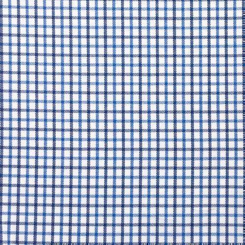 Tissu pour chemise sur-mesure chevron blanc