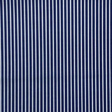 Tissu pour chemise sur-mesure popeline bleu rayé